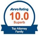 Avvo Rating 8.9 Excellent Featured Attorney Family